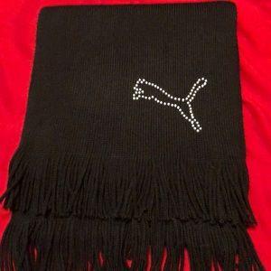 Black puma scarf
